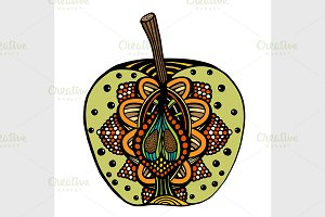 Decorative colored apple