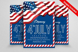 Day of Independence Flyer Template
