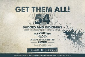 Get Them All - 54 Badges (Bundle)