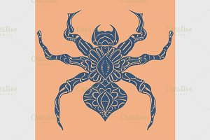 Vector of Abstract Spider