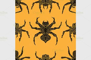 Spider seamless pattern.
