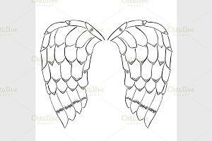 bird or angel wings