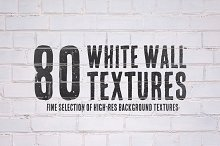 80 White Wall Textures Bundle