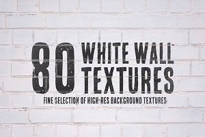 80 White Wall Textures Bundle