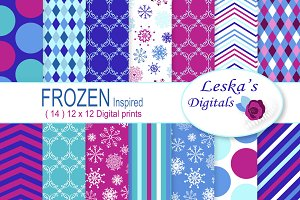 Frozen Digital Paper Pattern Design