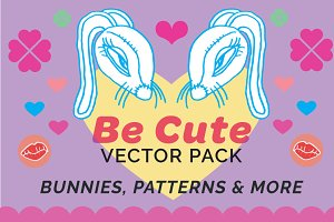 Be Cute Bunny Vector Pack