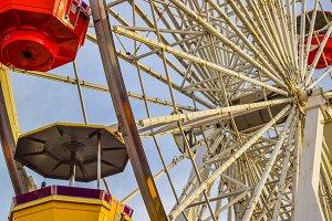 The roller coaster Santa Monica