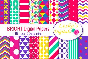Bright Digital Paper Patterns