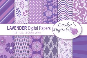 Digital Paper - Lavender Purple
