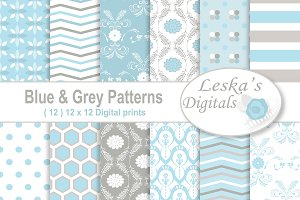 Blue and Grey Digital Paper