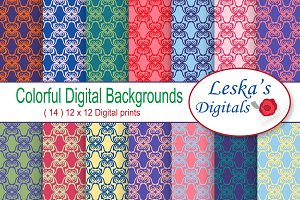 Digital Paper - Colorful Lattice