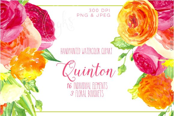 Quinton Watercolor Clip art