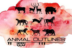 11 Vintage Animal Icons