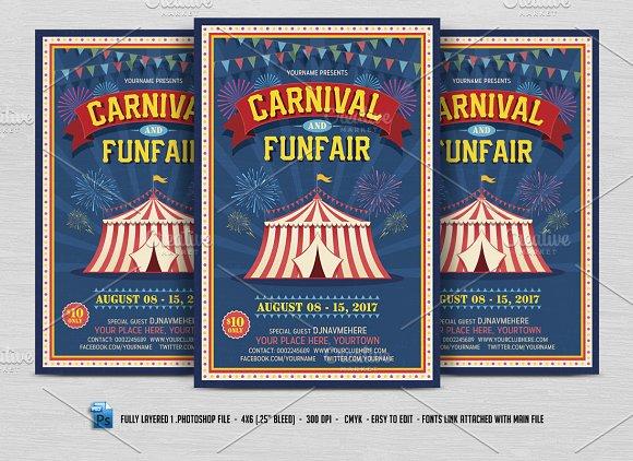 Carnival & Fun Fair Flyer ~ Flyer Templates ~ Creative Market