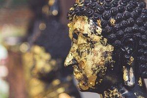 Buddha statue gilded