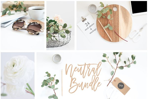 24 Neutral Stock Photos & Mockups