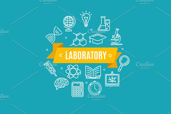 Education Chemistry Science Concept in Illustrations