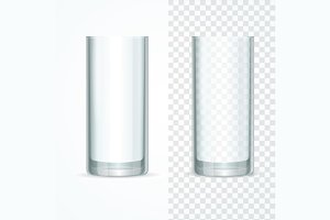 Transparent Glass Set. Vector