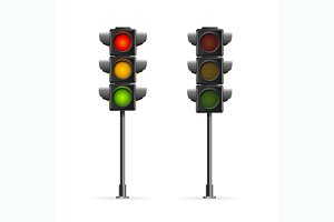 Road Traffic Light. Vector