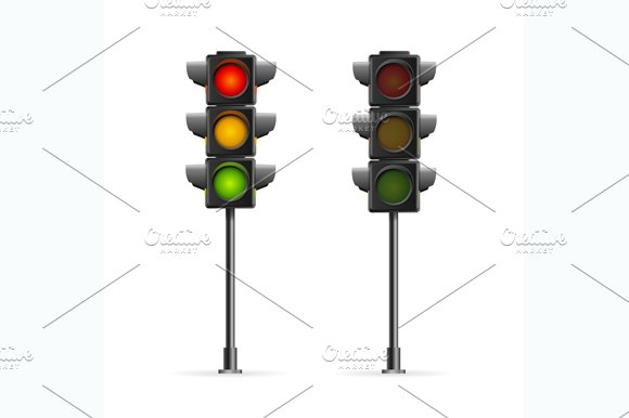Road Traffic Light. Vector - Objects