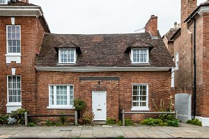 Typical english brick house