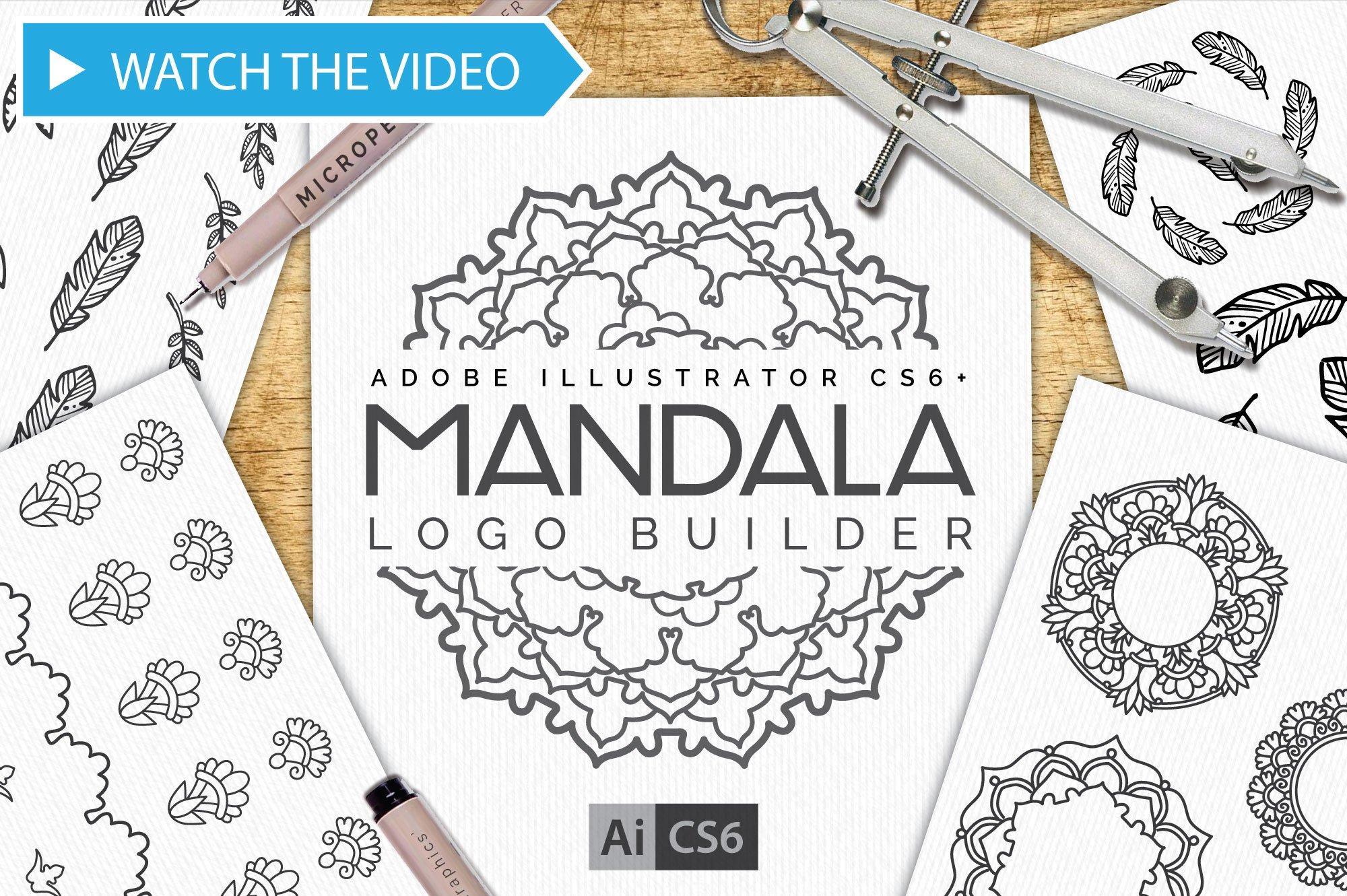 mandala logo creator kit cs6 actions creative market