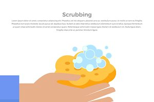 Scrubbing Hand with Soap and Wisp