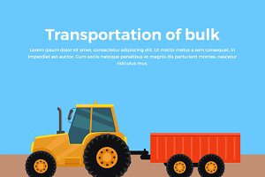 Transportation of Bulk Banner Design