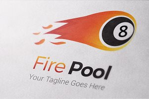 Fire Pool Logo Template