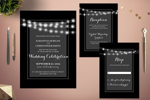 Celebration Lights Wedding Invite