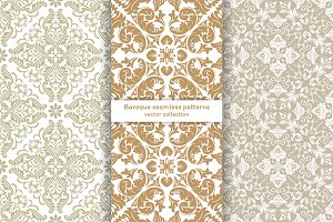 Baroque luxury seamless wallpapers