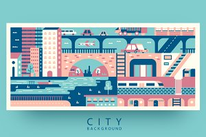 City abstract background