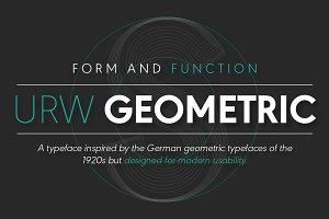 URW Geometric Heavy Oblique