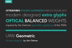 URW Geometric Black Oblique