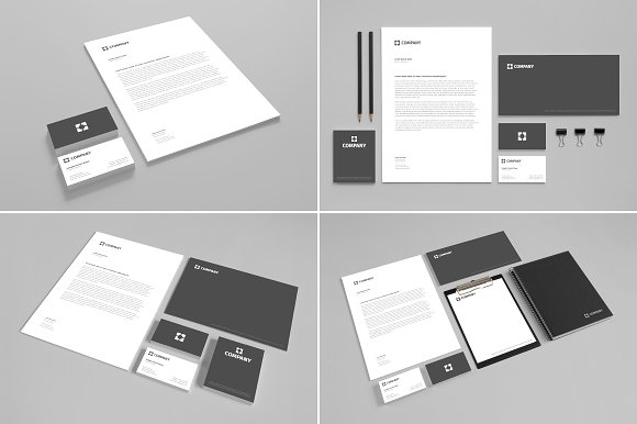 Free Branding Stationery Mock Up vol. 1