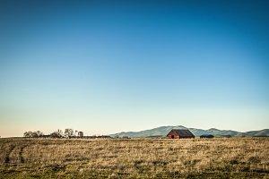 Red Barn in a Field