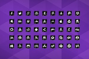 Social Media Icons Geometric Style