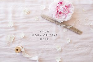Wedding styled floral stock photo