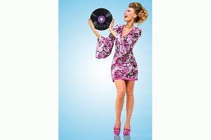 Violet vinyl.