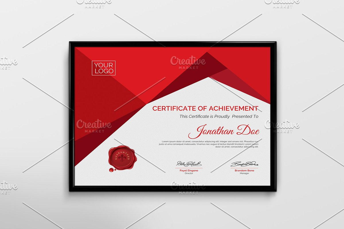 Certificate Template ~ Stationery Templates ~ Creative Market