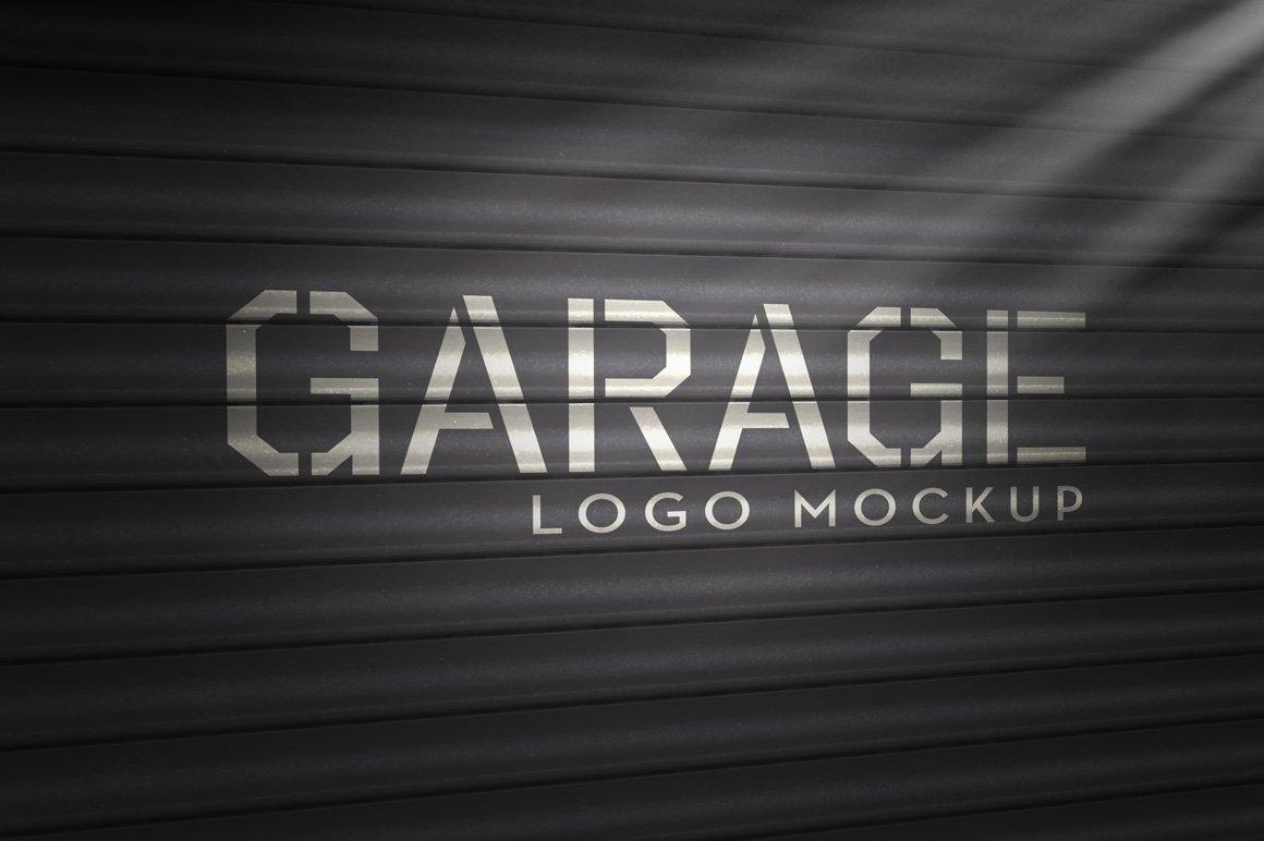 Logo mockup garage product mockups creative market for Garage designer online free