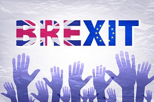 Brexit Text Isolated art vector