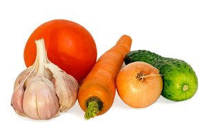 Vegetables composition.