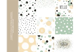 9 Confetti Polka Dot backgrounds