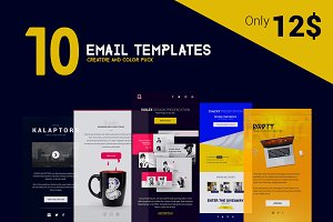 Creative Bundle of 10 Email Template