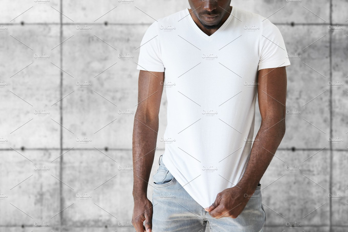 american apparel meet the models template - cropped isolated portrait of athlete african american male