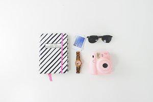 Flatlay Sunglasses Agenda Instax