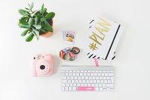Feminine Desk Instax Agenda Decotape