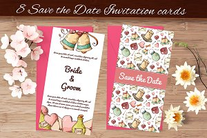 8 Save the Date invitation cards