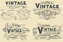 Vintage Typography Ornaments v2